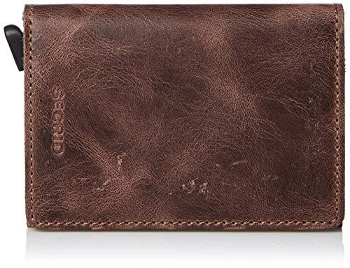 Secrid–Portemonnaie Slimwallet, Vintage-Design, Größe 10,2cm, schokoladenbraun (Braun) - SV-chocolate