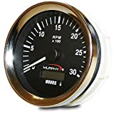Murphy by Enovation Controls ATH-30 12/24 VDC Analog Tachometer/Hourmeter (20700249)