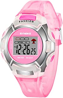 NICERIO Montre de Sport numérique pour Enfants - Étudiants imperméables chronomètre électronique Chronomètre Lumineux LED ...