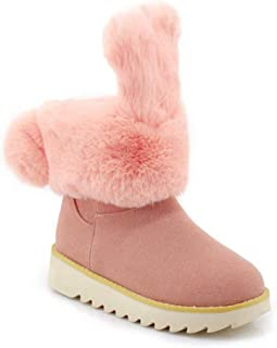 Rose town Women's Short Tube Plus Velvet Cotton Shoes Student Cute Snow Boots