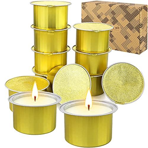 BEYAOBN 12 Pièces Bougie Citronnelle, Bougies Parfumées à la Cire de Soja Naturel Bougies à la citronnelle pour Jardin, Terrasse, Pique-nique, Réunions de Famille, Voyage Camping