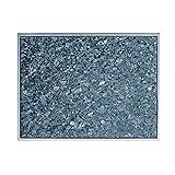 Superficie de granito con marco de acero inoxidable placa de granito de granito