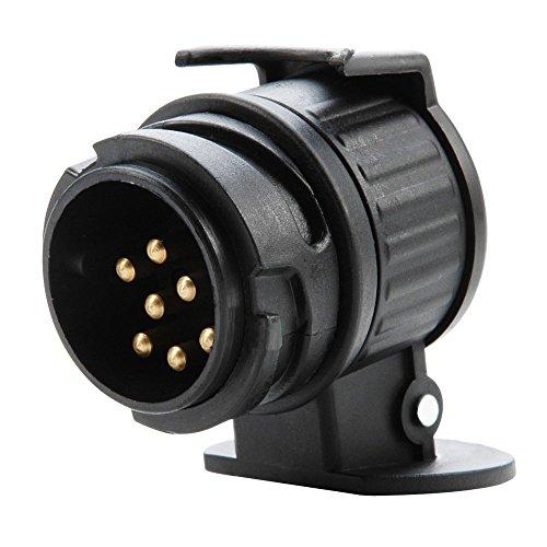 AKORD MO-20 Enchufe de remolque impermeable, negro