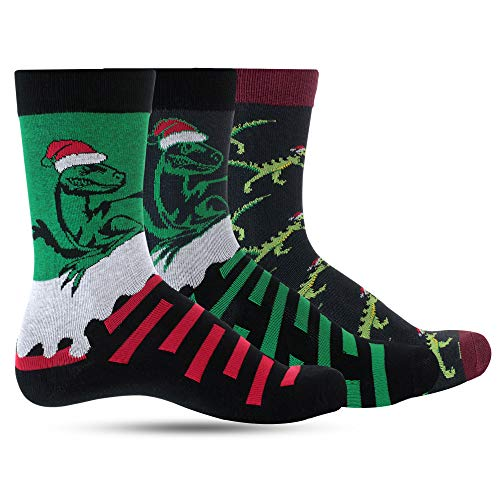 Luther Pike Seattle Christmas Fun Socks For Men: Mens dress socks colorful