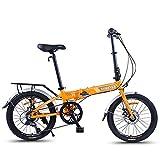 WXPE Bicicleta Plegable 20 Pulgadas de 7 velocidades Bici Plegable Folding Bike,Bicicleta Plegable Unisex Ruedas, Folding Bicicleta Plegable Cuadro Aluminio Ruedas