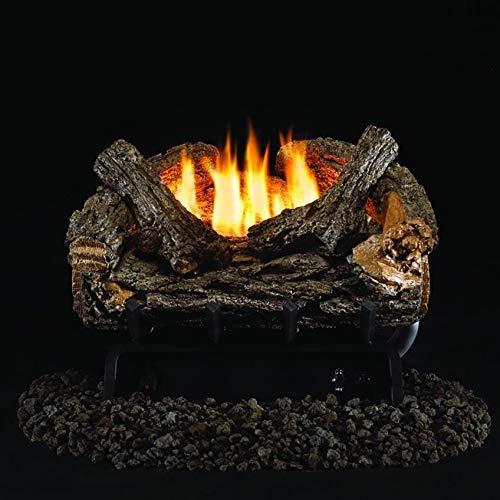 Peterson Real Fyre 16-inch Valley Oak Log Set With Vent-free Natural Gas Ansi Certified 20,000 Btu G8 Burner - Manual Safety Pilot