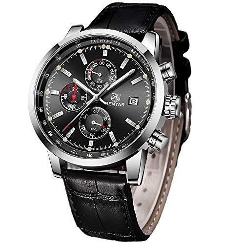 BY BENYAR Herrenuhr Militär Chronographen Datum Sport Modisch Analog Wasserdicht Armbanduhr Design Business Männer Uhren