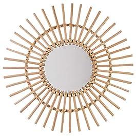 UNIVERS-DECOR Miroir rotin Soleil Atmosphera (Miroir rotin Bois)