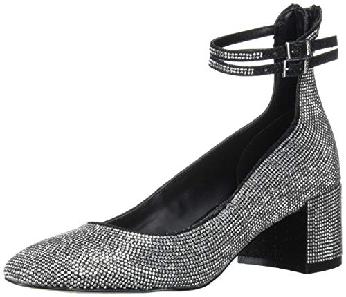 Jewel Badgley Mischka Women's REEVES Shoe, Black Fabric, 10 M US