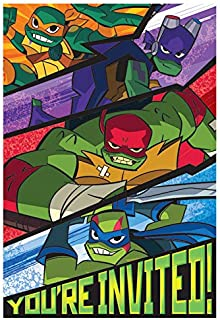 Rise of the TMNT Postcard Invitation Teenage Mutant Ninja Turtles Party Supplies