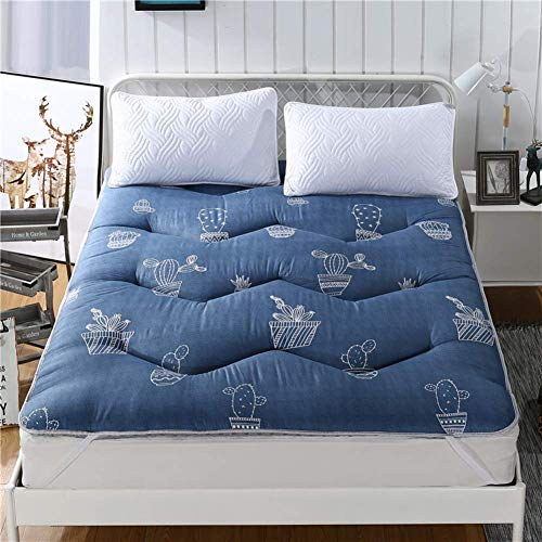 ZLJ Colchón Tatami japonés sofá Cama Almohadilla de colchón Alfombrilla de Suelo Gruesa Protector de colchón de futón Plegable en One-r 120x200x4cm