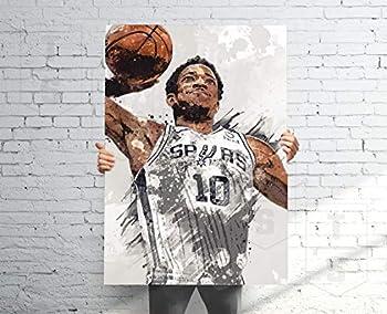 Teevoke Dero_Zan Poster Banner Sport Fan Sport Poster Kids Wall Decor Demar Poster Man Cave Gift for Him/Her Paint Splash Sports Art 11x17 16x24 24x36 Inch  No Frame  #54