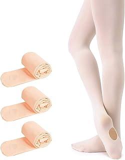 Soudittur Collant da Ballo Convertibili e Calzamaglie da Danza Classica Convertibile per Bambina Ragazze Donna in 3 colori...