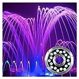 AYLYHD Luces Piscina Led Impermeable IP68 Luces Subacuáticas Luz de Decoración para Acuario, Estanque, Piscina, Base, Jarrón, Jardín, Banquete de Boda (Color : DC24V-Warm White, Size : 9W)