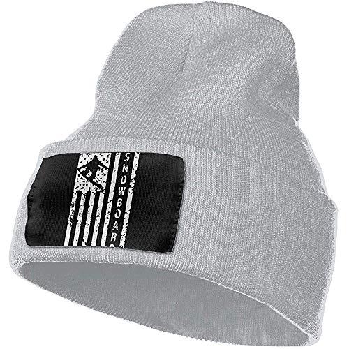 Cici-Shop American Flag Snowboarding Mannen & Vrouwen gebreide mutsen Stretchy & Soft Skull Cap Beanie Gebreide muts Cap 30cm