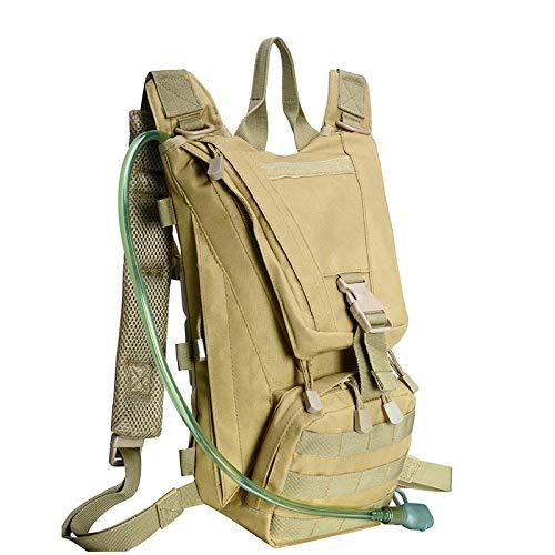 Mochila de hidratación de 2,5 l de agua para deportes de equitación táctica de camello mochila de hidratación militar camuflaje bolsa mochila mochila mochila camping mochila bolsa de bicicleta marrón