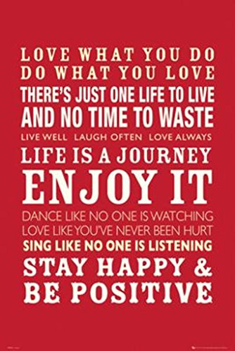 Life Quotes Poster 24 x 36in