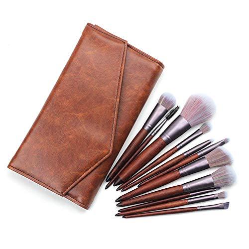 ZUEN Kit de pinceaux de Maquillage avec étui, 11 PCS Professional Kit de pinceaux de Maquillage Fondation synthétique Base de mélange Outils de Maquillage Kit de pinceaux cosmétiques