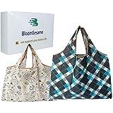 BloomSesame エコバッグ 折りたたみ 買い物袋 (L&M セット)