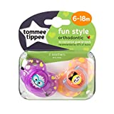 Tommee Tippee Closer To Nature: 2 x Sucette 6-18m (Robots - Violet/Orange)