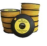 Movilideas - Lote de 10.000 marcadores de cables números del 0 al 9 (1.000 números de cada uno)