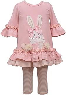 Bonnie Jean Pink Sparkle Ear Easter Bunny Legging Set