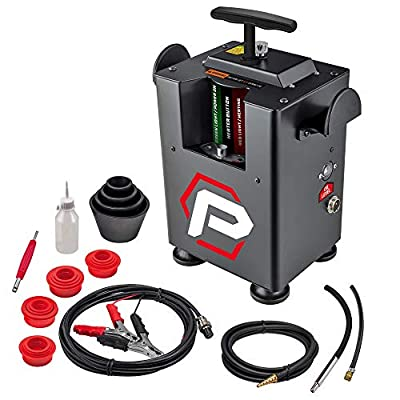 Powerbuilt automotive EVAP Leak Detector Smoke Machine, 12V Vehicle Pipes, Fuel Leakage, Universal Diagnostic Tester for Cars, Trucks, Boats, Motorcycles - 240207 from Alltrade Tools LLC