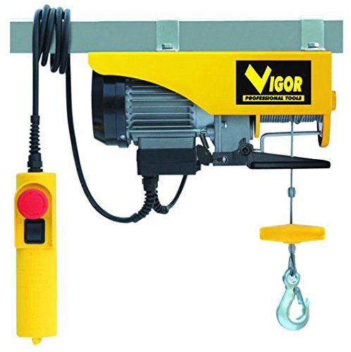 Vigor 49730-10 Paranco Elettrico 125 kg, Giallo