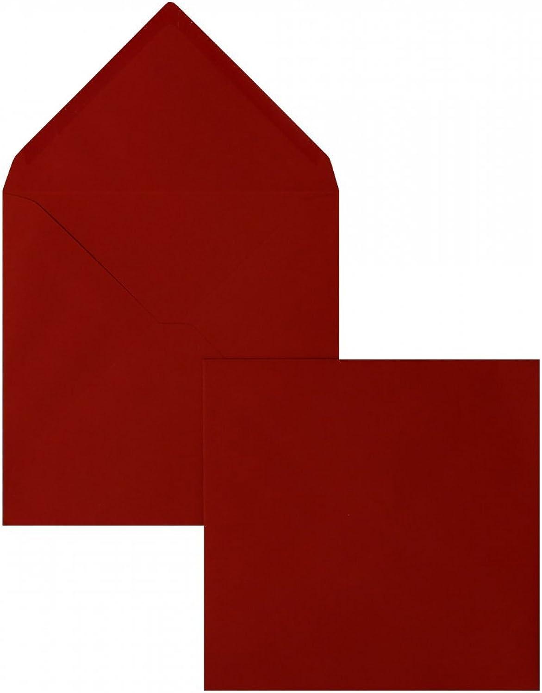 Farbige Briefhüllen   Premium   165 x 165 mm Rot (100 Stück) Nassklebung   Briefhüllen, KuGrüns, CouGrüns, Umschläge mit 2 Jahren Zufriedenheitsgarantie B01DULEFW4   Outlet Store