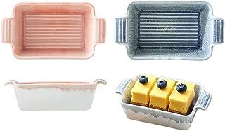 Moldes para Hornear, Mini cazuela de cerámica de 8 onzas, Plato de soufflé, Juego de 4, moldes Aptos para Horno, para souf...