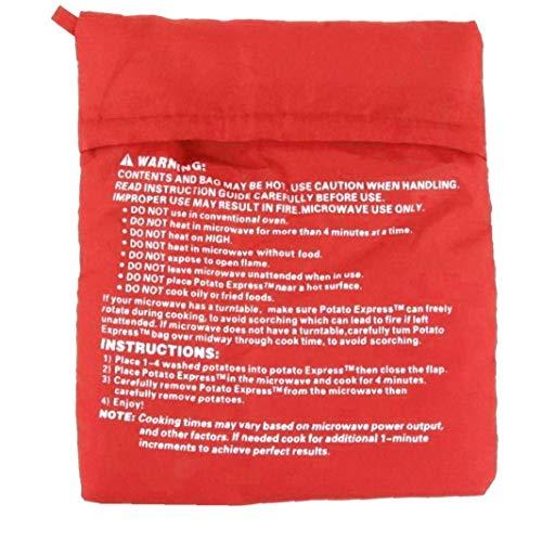 OMMO LEBEINDR Conveniente Potato Microondas Horno Horno De Microondas Bolsa Reutilizable Lavable Cocción De Patata Bolsa De Alimentación Conveniente