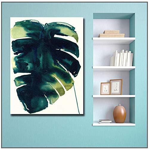 Afdrukken Tropische Kaas Plant Olieverf Art Home Decor Woonkamer Moderne Canvas Schilderijen -70x100cm / 27.6