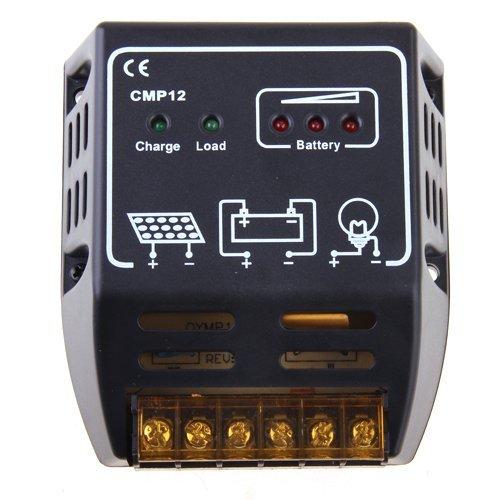 SODIAL(R)Panneau solaire Chargeur 10A 12V/24V Regulateur de controleur