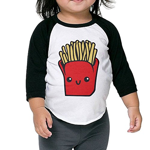 Susuha French Fries A Child's Sleeve Shoulder Shirt 3 Toddler