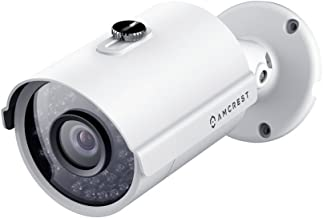 Amcrest Full HD 1080P 1920TVL Bullet Outdoor Security Camera (Quadbrid 4-in1 HD-CVI/TVI/AHD/Analog), 2MP 1920x1080, Night Vision, Metal Housing, 3.6mm Len, White (AMC1080BC36-W)