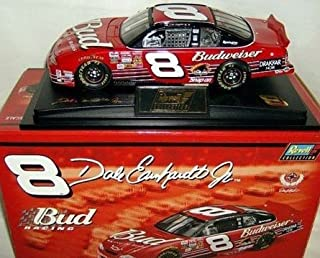 NASCAR Dale Jr #8 Dale Earnhardt Jr Budweiser 2002 Chevrolet Monte Carlo 1/24 Scale Diecast Hood Opens Trunk Opens Limited Edition Revell Collection With Hard Acrylic Display Case
