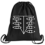 Camiseta de People Neon Genesis Evangelion Alma stilizzato Bolsa de deporte–serigrafiado Bolsa–Una bonita Funda Bolsa De Deporte con bordados, color Negro , tamaño talla única
