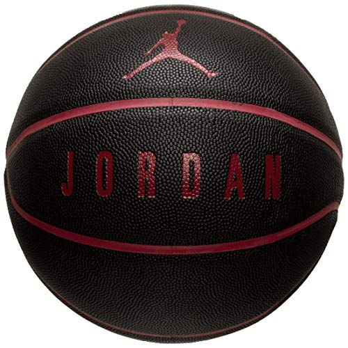 Jordan - Balón Unisex para Adulto, Rojo/Negro, 7