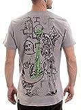 Plazmalab Street Habit Crazy Scientist - Camiseta para Hombre (algodón de Calidad) - Gris - Small