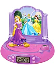 Princesas Disney - RP515DP Rapunzel Radio Despertador con Proyector De Hora De Rapunzel, Color Multicolor (Lexibook RP515DP)