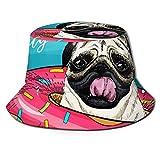 GOSMAO Unisex Summer Pool Paty Bucket Hat Sombrero de Pescador Sombrero de Sol al Aire Libre Negro