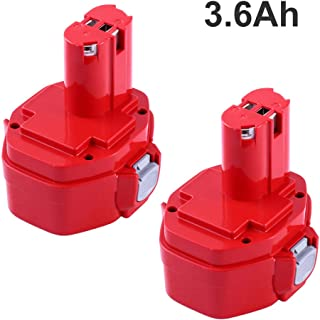 14.4V 3.6Ah Replacement Batteries for Makita 14.4V Battery Ni-Mh 1420 1422 1433 1434 1435 1435F 192699-A 193158-3 192600-1 Cordless Power Tool 2 Packs