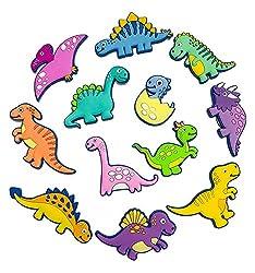 2. VLOOK Soft Rubber Dinosaur Fridge Magnets Set (12 pieces)