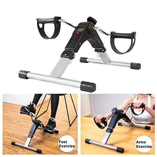 DLQ Tragbare Falten Pedal Exerciser, Mini Indoor Heimtrainer Electronic Display mit Kalorienzähler Fitness Equipment for ältere und Arme, Beine, Physiotherapie 325