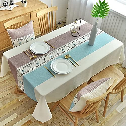 Manteles rectangulares de impresión geométrica Moderna para Mesa decoración del hogar Cubierta de mesas de café de poliéster Impermeable 140x240cm 03