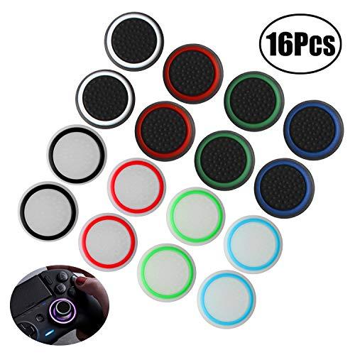 abd Joystick Thumbstick Kappen Aufsätze Schutzkappe aus Silikon für PS4, Xbox 360, PS3 Controllers (8 Paar Mischfarben)