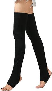 comprar comparacion Windy5 1 Par Mujeres Niñas calentadores de la pierna Calcetines largos sin base de calcetines de invierno de baile de otoñ...
