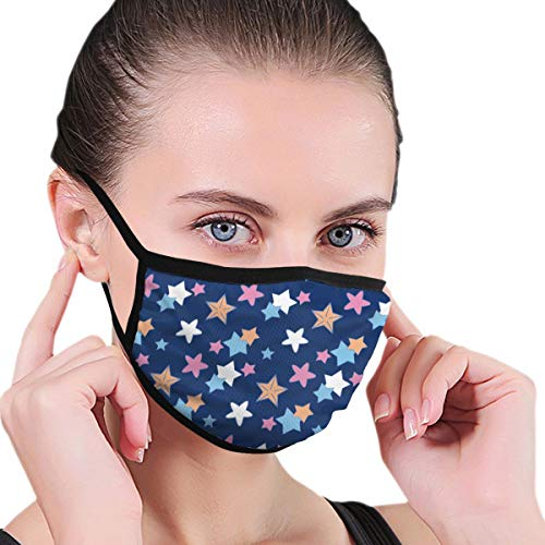 Funny Mouth Cover Dustproof Washable Reusable Starry Night Sky In Wave Protective Safety Warm Windproof for Women Men
