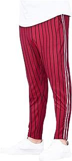 Stripe Pants Fashion Men Casual Mid Waist Trousers Drawstring Elastic Waist Long Pants Trousers