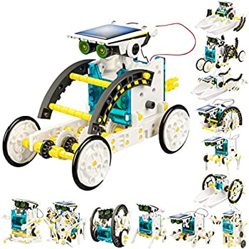 STEM 13-in-1 Solar Power Robots Creation Toy Educational Experiment DIY Robotics Kit Science Toy Solar Powered Building Robotic Set Age 8-12 for Boys Girls Kids Teens to Build